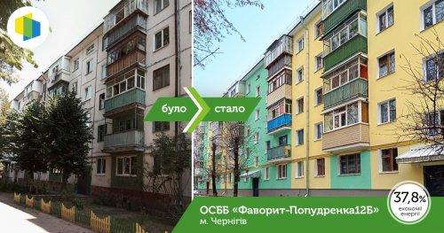 Жители хрущевки в Чернигове модернизировали ее за средства ЕС. Фото