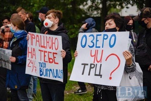 Озеро Вирлиця в Києві хочуть забудувати: кияни звернулися до Кличка. Відео