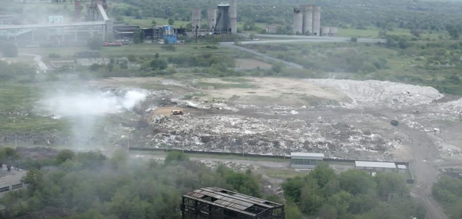 На Днепропетровщине незаконно действует свалка, которая отравляет людей. Видео