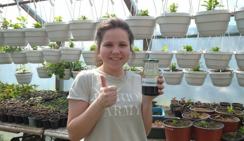Удобрения из водорослей: студентка из Мариуполя придумала, как очистить Азовское море