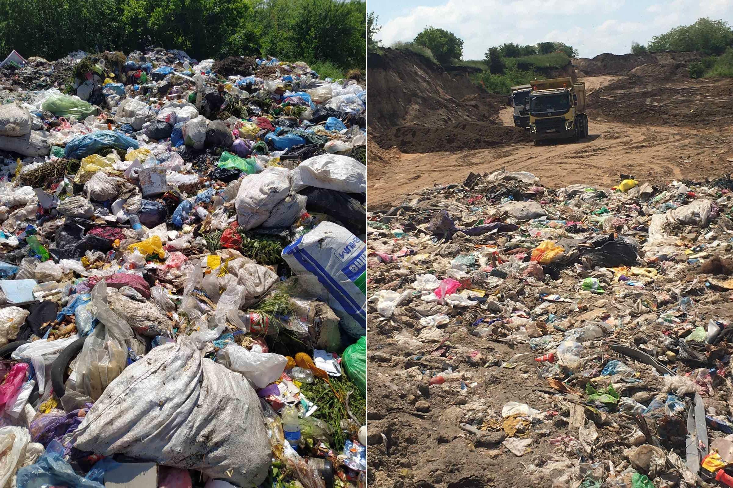 Кучи львовского мусора снова вывезли ночью в другую область. Фото