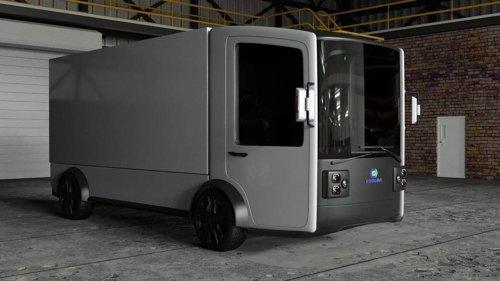 Разработчики из Кривого Рога показали футуристический грузовой электромобиль. Фото