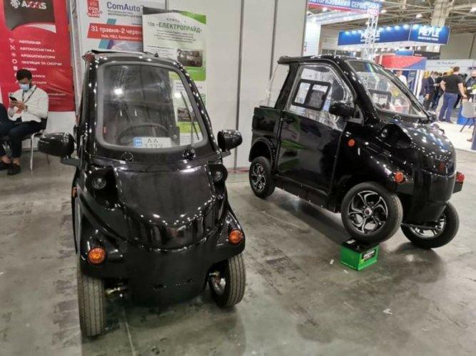 В Киеве презентовали электромобили украинского производства. Фото