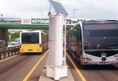 В Стамбуле установили генераторы, производящие энергию благодаря движению машин