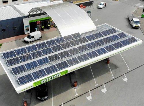 OKKO встановила дахові сонячні електростанції на 24 АЗК
