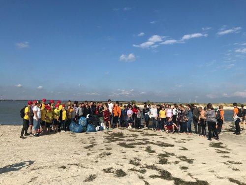 Херсонские школьники убрали от мусора после туристов самый большой остров Украины. Фото