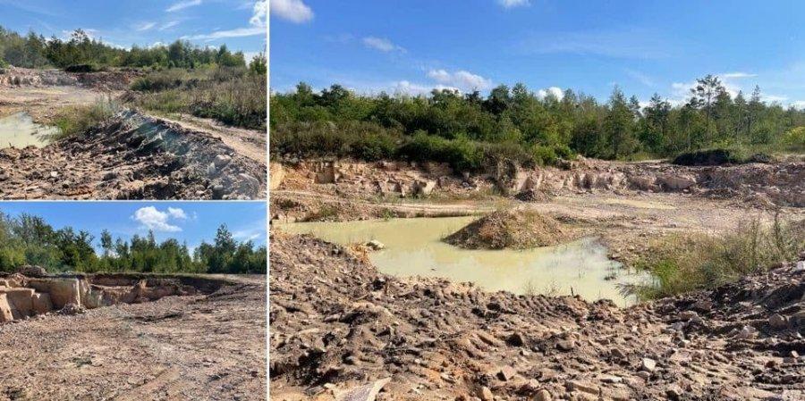 На Житомирщине обнаружили незаконную добычу песчаника на 13 млн грн