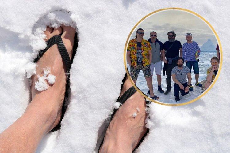 """Украинские полярники сделали """"летнее"""" фото, чтобы привлечь внимание к изменению климата"""
