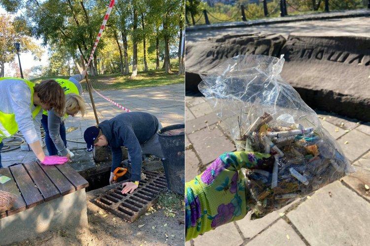 Волонтери прибрали від сміття історичний центр Києва. Фото до та після
