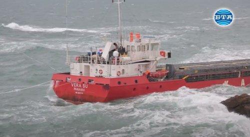 У Чорному морі затонув вантажний корабель з тоннами хімікатів на борту